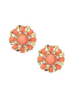 Floral bouquet stud earring | Banana Republic. I think my great grandmothers would have worn these...and therefore I love them.