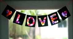 Mama's Little Muse: Valentine's Day Love Banner: Tissue Paper Collage Craft for Children
