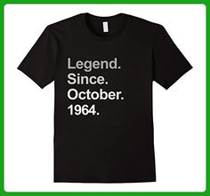 Mens Legend Since October 1964 Shirt - 53rd Birthday Gifts TShirt Large Black - Birthday shirts (*Amazon Partner-Link)
