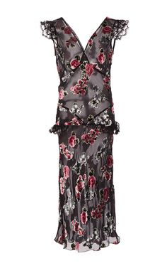 Rose Velvet Burnout Dress by ANNA SUI for Preorder on Moda Operandi