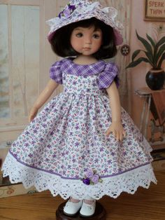 """Easter Dress Hat for Dianna Effner Little Darlings Clothes for 13"""" Dolls 