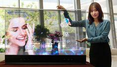 Samsung presenta nuevas pantallas transparentes y de espejo con tecnología OLED