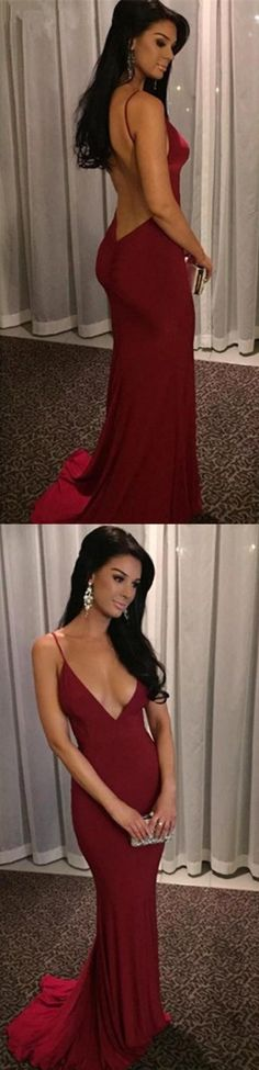 Burgundy Backless Prom Dress,Long Prom Dresses,Charming Prom Dresses,Evening Dress, Prom Gowns, Formal Women Dress,prom dress