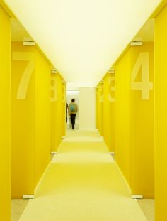 An interior hallway at French automaker Renault's Bump fair stand, designed by Paris-based firm DGT Architects. Photo byTakuji Shimmu...