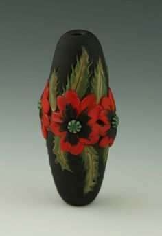Title: Oriental Poppies by...Kim Fields.. Mde from Effetre Glass