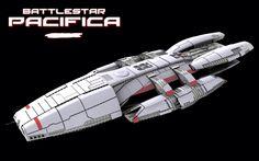 Battlestar Pacifica (Battlestar Galactica universe) #BSG - model by Ice-Dragon