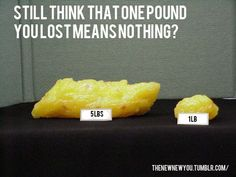 Still think that one pound you lost means nothing ?