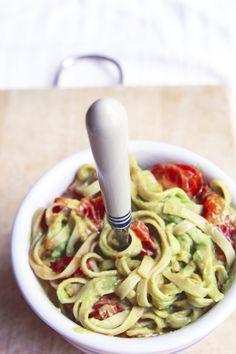 Creamy Avocado Pasta | Flourishing Foodie