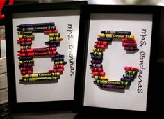 Teacher gifts Crayon Art
