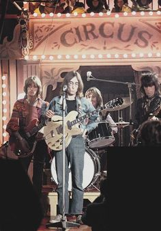 One time supergroup: The Dirty Mac feat. John Lennon, Keith Richards, Eric Clapton, and Mitch Mitchell. The Rolling Stones Rock and Roll Circus, 1968 Eric Clapton, John Lennon, Charlie Watts, Keith Richards, Ringo Starr, The Rolling Stones, Stevie Wonder, Paul Mccartney, Music Love