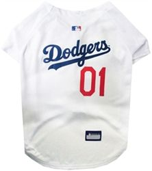 Posh Puppy Boutique is a shop for designer dog clothes and accessories -MLB Los Angeles Dodgers Dog JerseyDog Jersey puppy Sports Apparel - Licensed MLB Wear, pet toys, collars, carriers, treats, stunning bowls, diaper, belly bands, id tags, harnesse