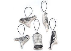 Set mit 5 weichen Vogelanhängern von Ferm Living