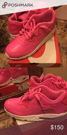 the best attitude caa70 fefee NIKE PINK SNEAKERS Nike pink sneakers in youth size . Never worn outside the  house, I purchased the wrong size and it s so unfortunate to get rid of  because ...
