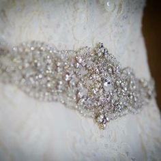 Oh my sparkle heaven The most stunning shot of our bride Melissa's @hautebridedesign sash on her big day! #hydeparkbridal #hautebride #blingbling #bridalsash #bridalaccessories #ohiobrides