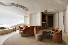 Cabinet D Architecture, Architecture Design, Hotel Bulle, Design Lounge, Cafe Design, Design Design, Garden Pavilion, Café Bar, Curved Walls