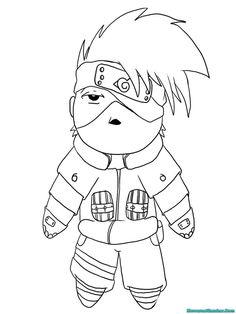 Naruto Chibi Kakashi Lineart by kimberly castello LineArt