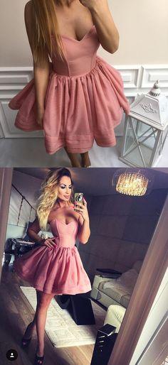 blush pink homecoming dress, 2017 short homecoming dress, sweetheart homecoming dress party dress, dancing dress, short prom dress