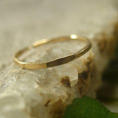 Toe Ring Gold Filled Hammered Adjustable by MysticMoons on Etsy, $10.00