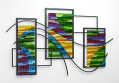 Check out gorgeous recommendations about fused glass wall art hanging, also various wall art designs and collections. Glass Artwork, Glass Wall Art, Fused Glass Art, Metal Wall Art, Mosaic Glass, Stained Glass, Panel Wall Art, Hanging Wall Art, Wall Art Decor