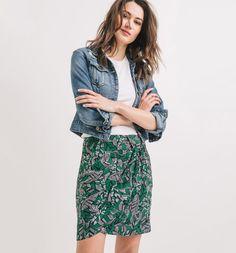 Draped+patterned+skirt