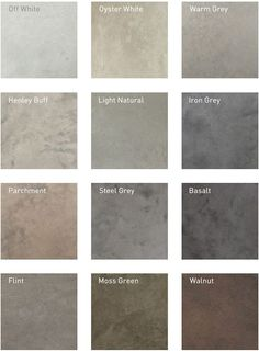 Lazenby - Recommended Polished Concrete Colours