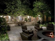 fairy lights to bring the outside in after dark.  Cote de Texas