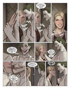 Full issue of Harleen Issue 3 online Joker Comic, Harley Quinn Comic, Joker Art, Batman Art, Batman Robin, Comic Art, Batman Arkham City, Gotham City, Comic Book Characters
