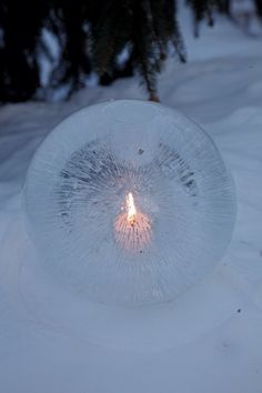 Light up cold winter nights with the glow and warmth of ice lanterns.