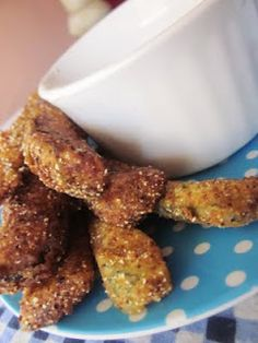 Southern Fried Pickles with Homemade Ranch dressing...and homemade shake-n-bake!