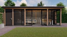 Pergola Canopy, Pergola Patio, Backyard Patio, Backyard Office, Backyard Sheds, Garden Gazebo, Backyard Garden Design, Shed Design, Deck Design