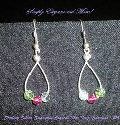 Tear Drop Sterling Silver Earrings with by SimplyElegantandMore, $15.00