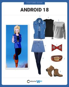 Trending blonde characters are the best options for cosplay or Halloween. Easy Cosplay, Casual Cosplay, Cosplay Outfits, Cosplay Costumes, Cosplay Ideas, Cosplay Informal, Android 18 Cosplay, Baby Boy Outfits, Kids Outfits
