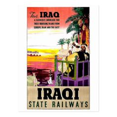 #Iraq tour state railways vintage travel postcard - #travel #trip #journey #tour #voyage #vacationtrip #vaction #traveling #travelling #gifts #giftideas #idea