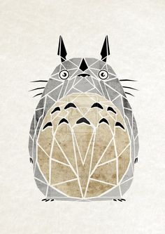 Totoro Goes With Everything - Get the latest dish on what is happening in the sub culture of anime and cartoons. Hayao Miyazaki, Ghibli Tattoo, Kodama Tattoo, Motif Art Deco, Studio Ghibli Movies, Girls Anime, My Neighbor Totoro, Anime Art, Pikachu