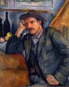 The Smoker Paul Cezanne French) Oil on canvas State Hermitage Museum St Petersburg Russia Canvas Art - Paul Cezanne x Cezanne Art, Paul Cezanne Paintings, Pablo Picasso, Monet, Hermitage Museum, Renoir, Paul Gauguin, Old Master, Vincent Van Gogh