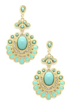 Love Teal Earrings