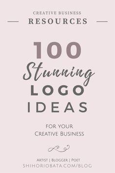100 stunning logo ideas for your creative business #logos #webdesign #logo #blogging // logo design inspiration, website design, logo ideas, handdrawn logo, feminine logo ideas, minimalist logo, logo design branding, modern logo design