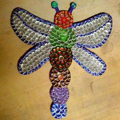 Beer Cap Dragonfly Art Check us out on Facebook/madcapcreations!