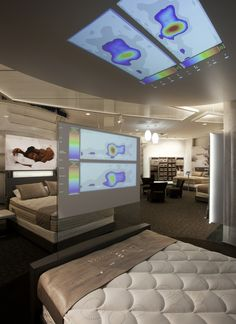 Can we find a way to display pressure mapping overhead while they lay on the mattress? Sleep Number by Select Comfort | Visual Merchandising and Store Design