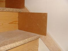 Stairway Skirt Board Template - Easy - Carpentry -  Need to do this.