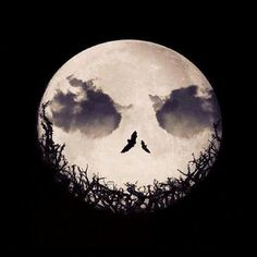 Jack Skellington moon :)