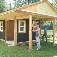 This would be nice to also set up a nice seating area under the overhang, Maybe make the overhang area a little larger.  Shed Plan