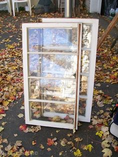 How to make repurposed window cabinets -- step by step directions on how to build the cabinet, put legs on it and use windows for doors. Repurposed Furniture, Furniture Decor, Diy Projects To Try, Home Projects, Old Window Projects, Window Ideas, Faux Window, Old Windows, Casement Windows