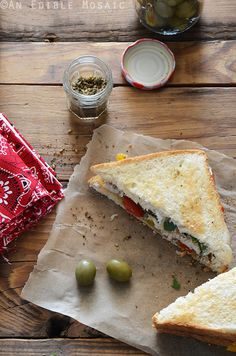 Za'atar-Spiced Chicken and Bell Pepper Sandwiches with Labneh Recipe...perfect #summer #picnic food!