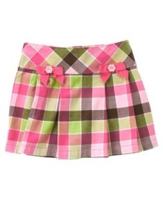 NWT Gymboree Equestrian Club Bow Plaid Skort - Size 10 - 1 available - $15 shipped