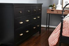 Anthropology Pulls Ikea Hemnes 6 Drawer Chest After Baby