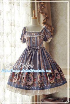 DearCeline -Hello! Miss Cat- Lolita OP Dress