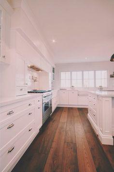 Kitchen floors.... I love an all white kitchen.