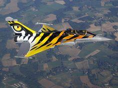 Dassault Rafale B in Tiger scheme - Armee De L'Air (French Air Force), France