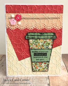 Judy's Card Corner: Spring Coffee Lovers Bloghop - Take 1!